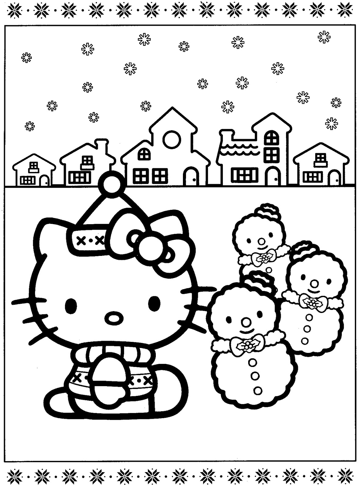 Hello Kitty Turkey Coloring Pages : Thanksgiving hello kitty free coloring pages