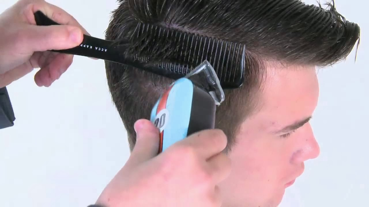 How to do a pompadour that has a comb