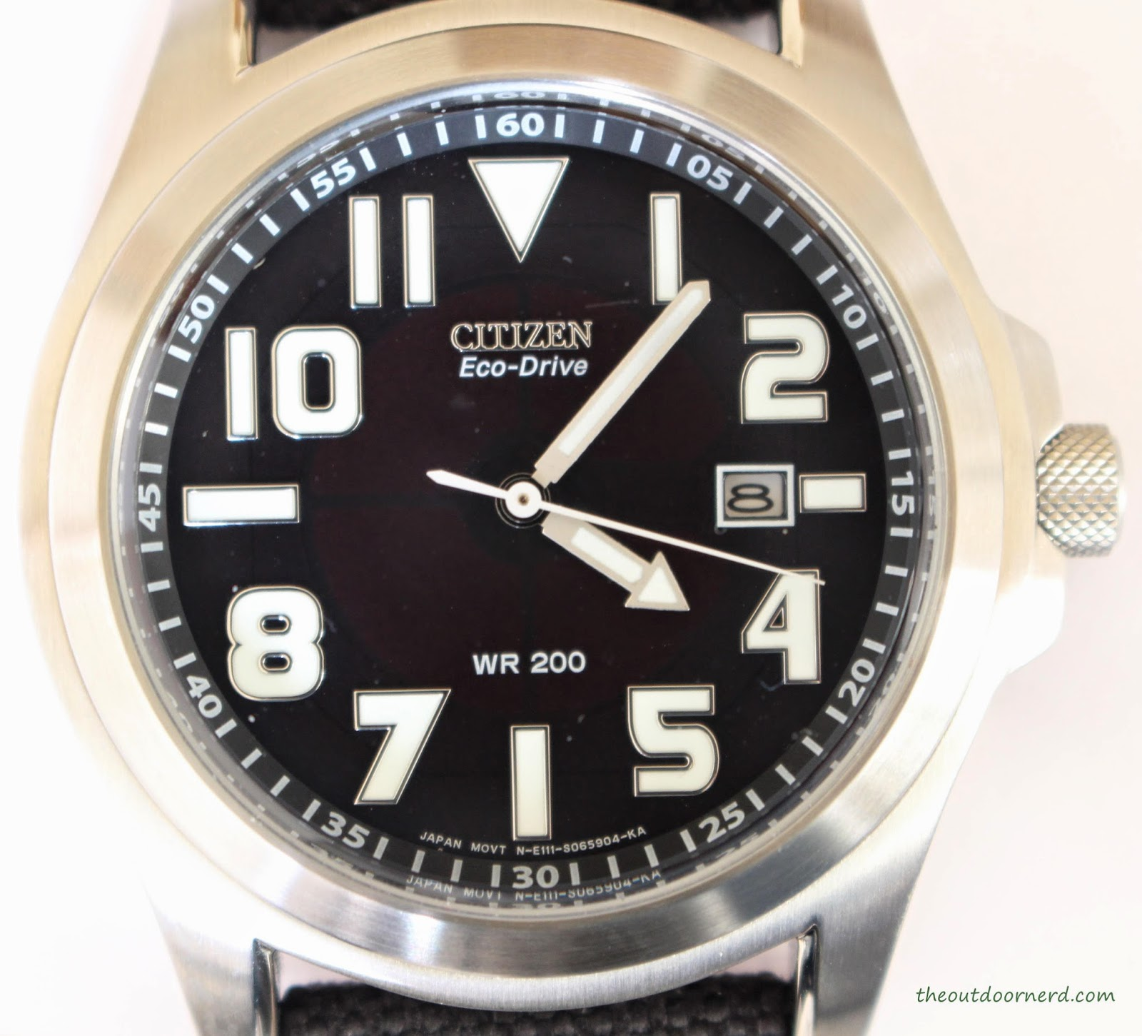 Citizen Men's BM6400-00E Eco-Drive Watch: Closeup Of Dial