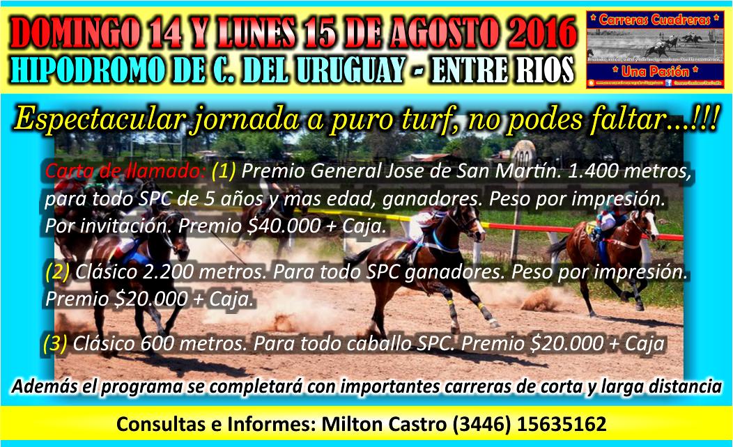 C. DEL URUGUAY - 14 Y 15.08.2016