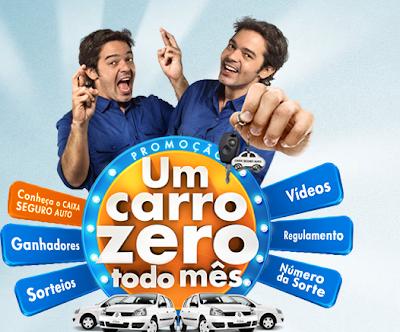 """Promoção Caixa Seguros - """"Um carro Zero por Mês"""""""