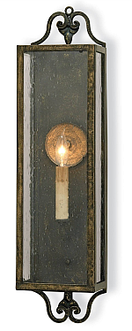 Coach lantern wall sconce in bronze