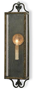 Coach lantern wall sconce in bronze