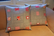 Patchwork linen cushions