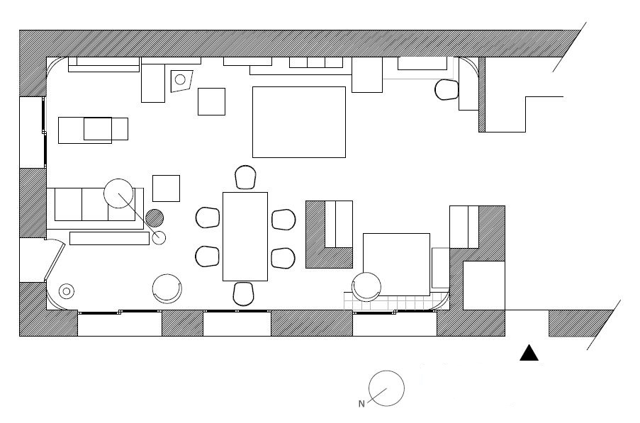 Adc l 39 atelier d 39 c t am nagement int rieur design d 39 espace et d coration am nagement - Plan salon salle a manger ...