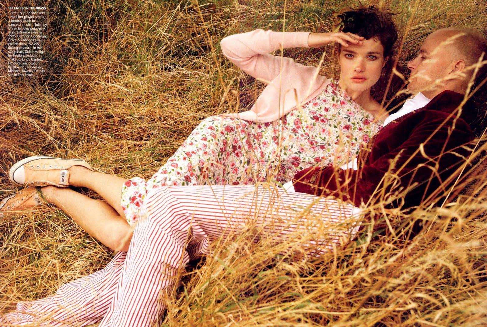 Natalia Vodianova in Vogue US November 2008 (photography: Mario Testino, styling: Grace Coddington)