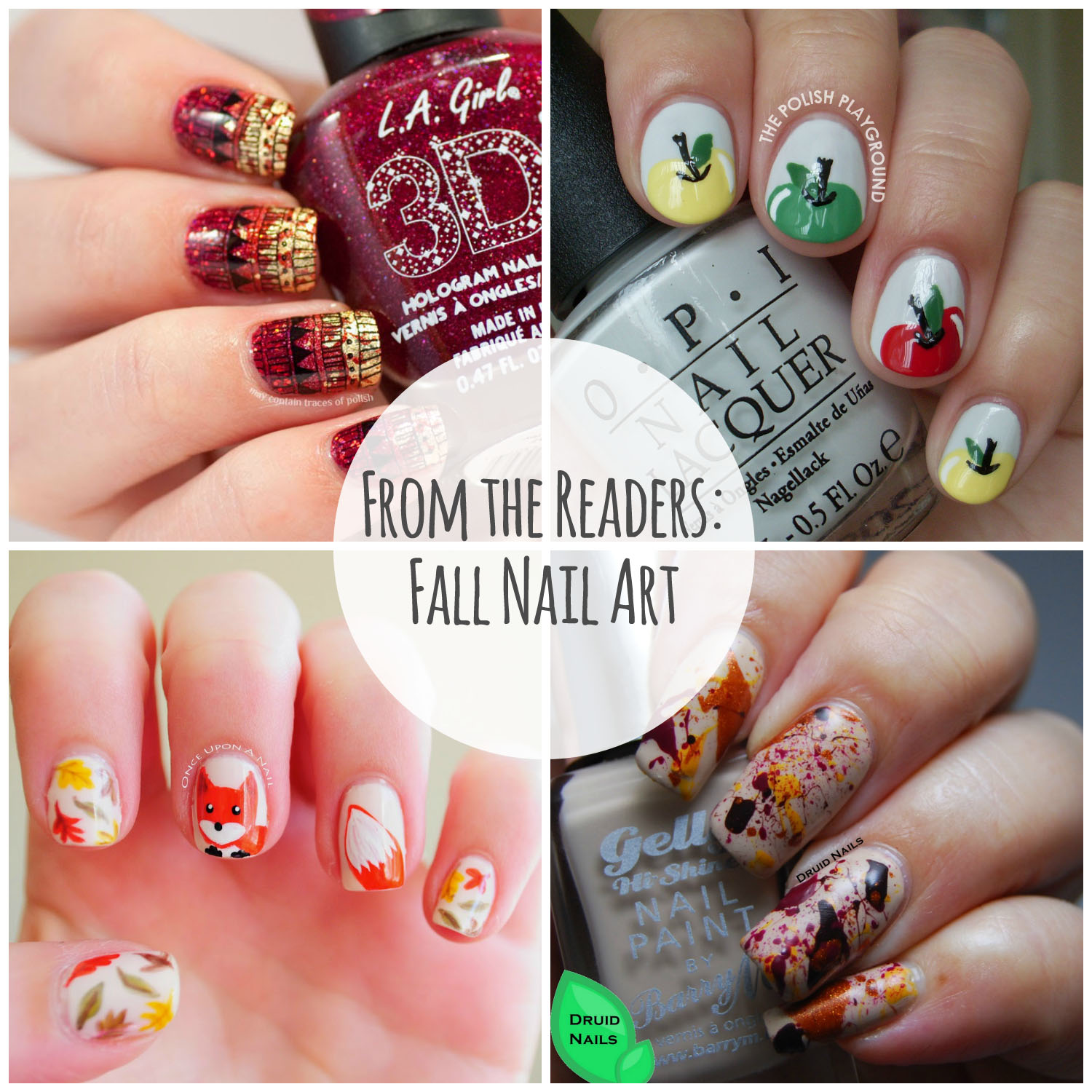From the Readers: Fall Nail Art | Will Paint Nails for Food | Bloglovin\'