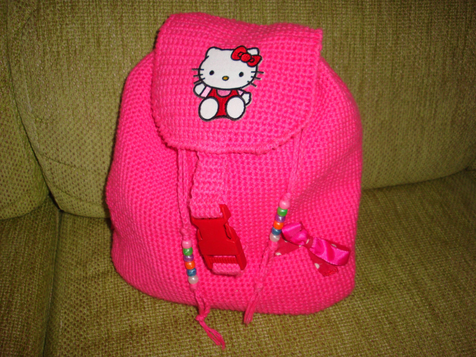 cositas a ganchillo: MOCHILA HELLO KITTY