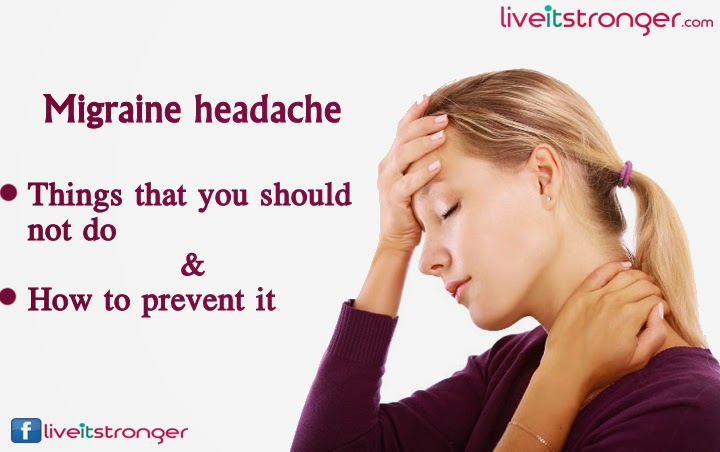 things to avoid on migraine