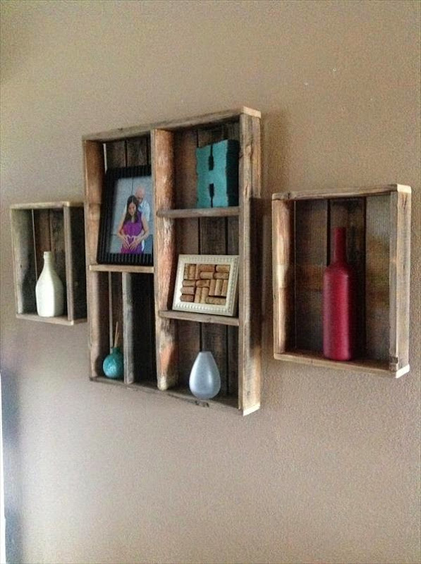 Wall Shadow Boxes with Shelves