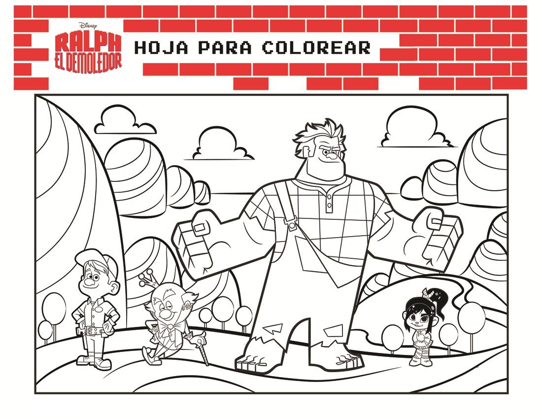 Ralph el demoledor para colorear y pintar ~ Colorea el dibujos