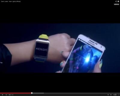 Promo Galaxy Gear di Lagu Demi Lovato