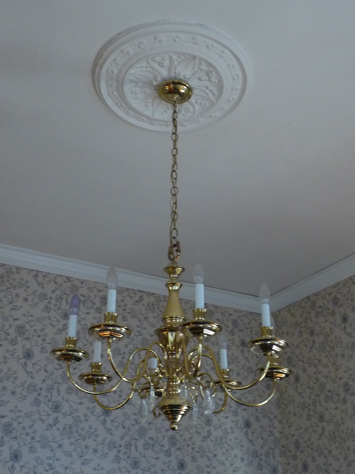 Inspirational It is just a standard brass chandelier It was probably installed in the late us early us and clearly looking a bit dated