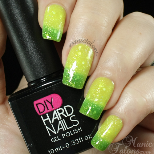 DIY Hard Nails Jade Glitz Swatch