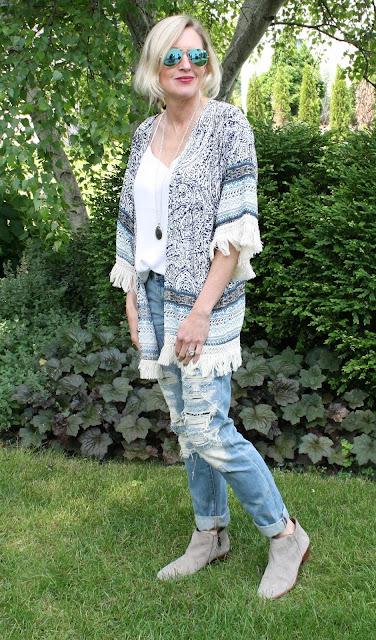 Paisley Print Tassel Kimono