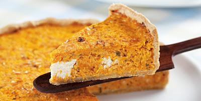 Torta de queijo e abóbora light