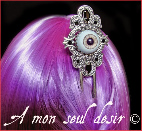 Pic à Cheveux Oeil Yeux Gothique Anatomie Cyclope Eye Hair Stick Goth Anatomy Jewellery Cyclop
