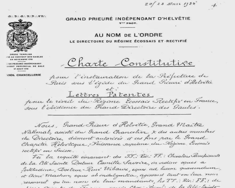 80º Aniversario del « Despertar » del Régimen Escocés Rectificado en Francia (1935-2015) 3