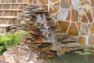 Arte y jardiner a cascadas construcci n de una cascada for Construccion de estanques para piscicultura