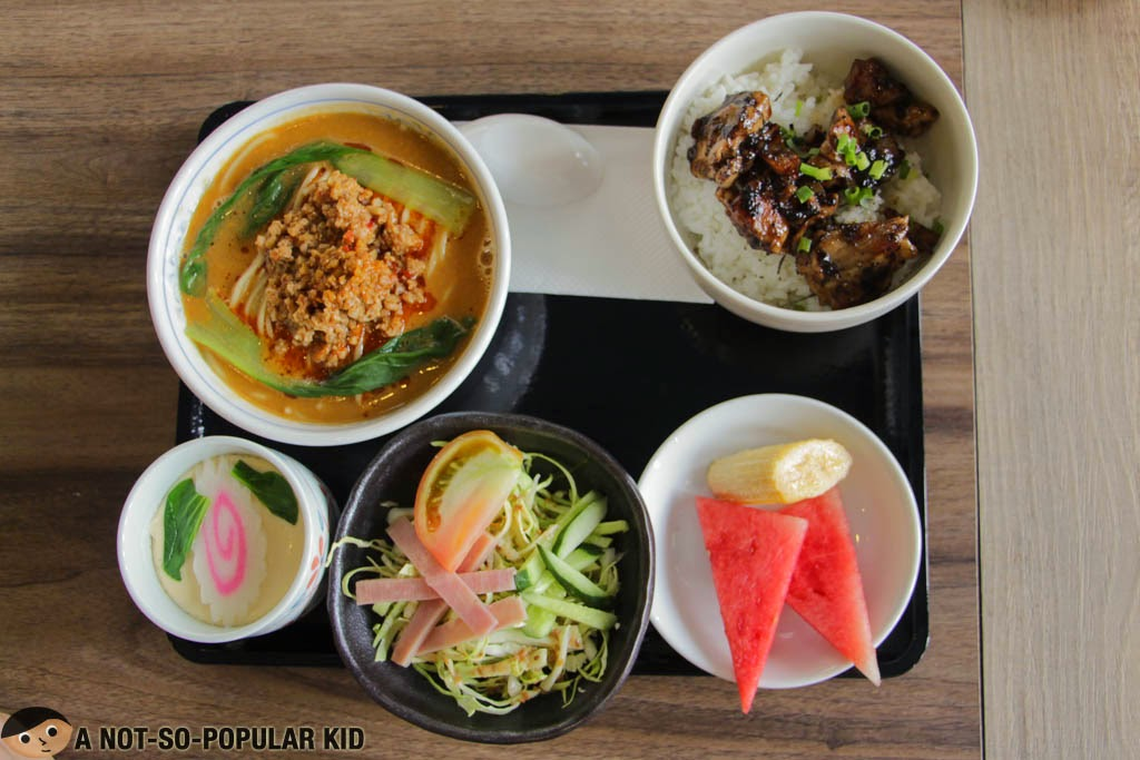 Special Meal Set of Tan Tan Ramen in Mitsuyado