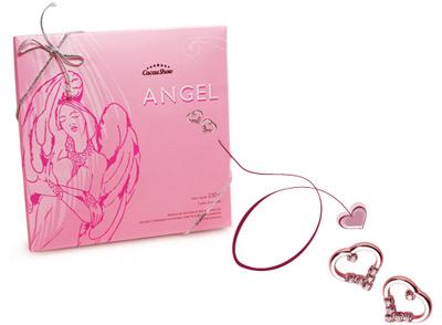 bombons de chocolate ao leite recheados Cacau Show Dia dos Namorados Angel Edição Limitada