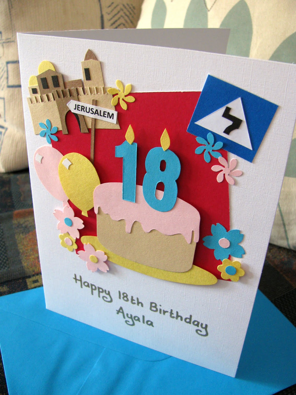 Handmade Birthday Cards For Guys 18 ~ Handmade in israel june