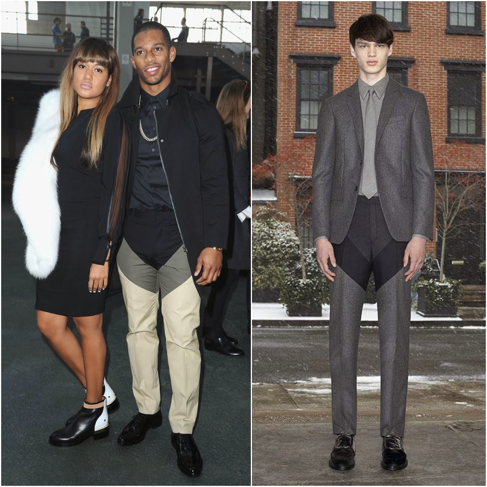 Victor Cruz in Givenchy - Givenchy Menswear Fall Winter 2014 Show, #PFW