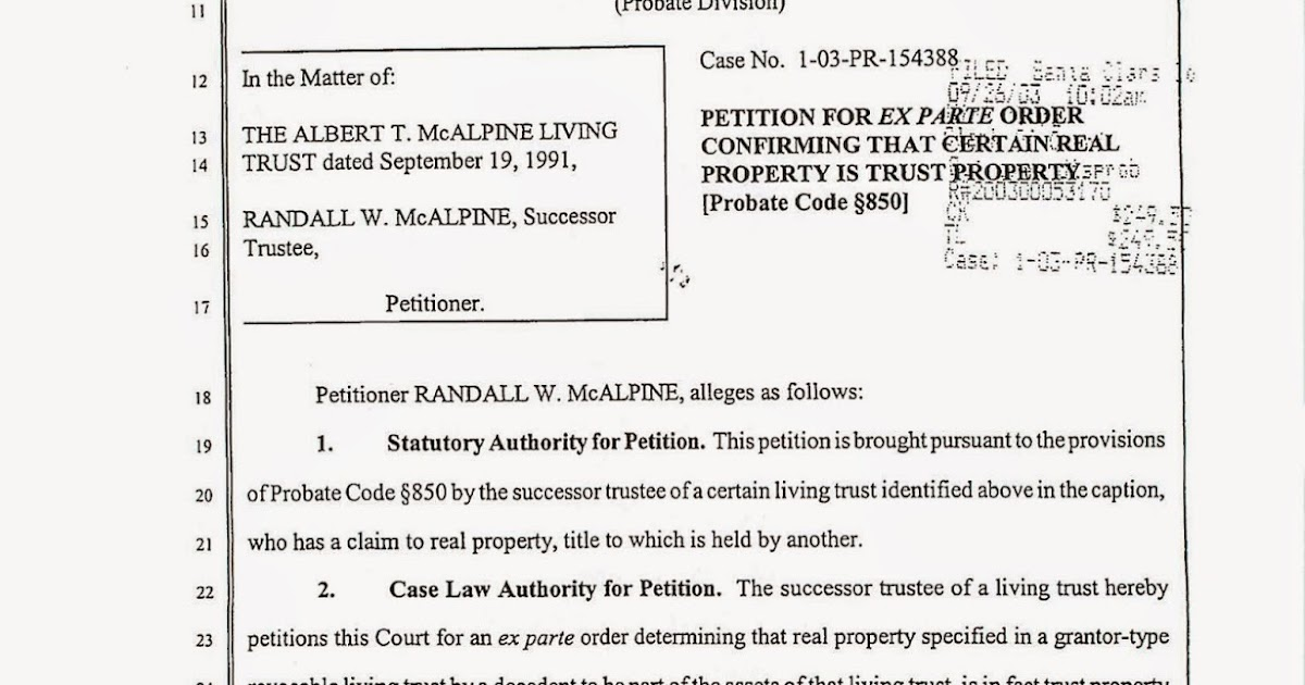 Estate Planning in California: Heggstad Petition