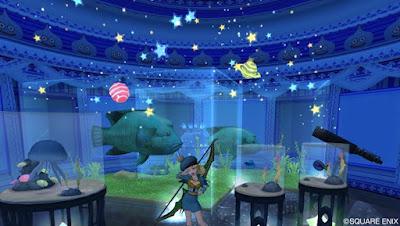 青っぽい生き物の水族館