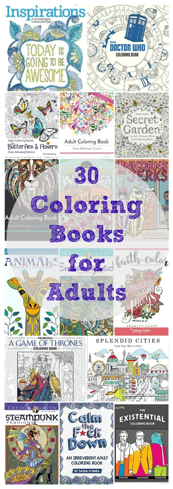 Adult Coloring Books - Relax and Get Creative