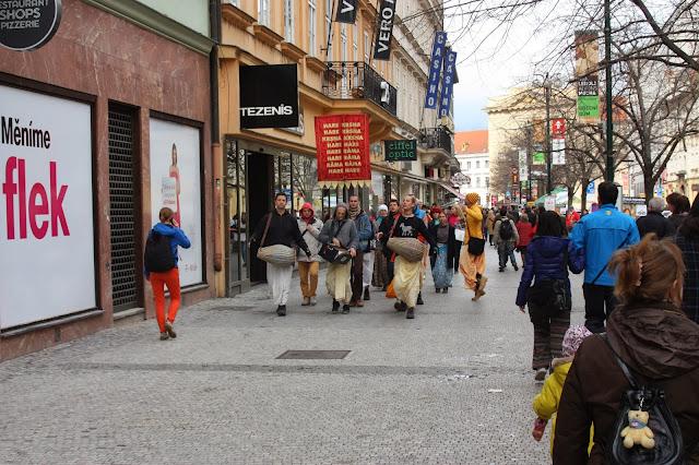 Харинама, Прага, Чехия.