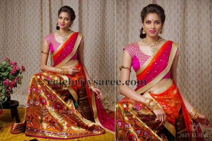 Multi Colors Pythani Half Saree