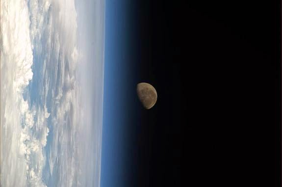This is the lovely image of the Earth-Moon system before the gate crash.