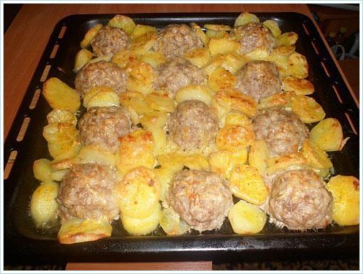 ежики под картошкой с сыром в духовке