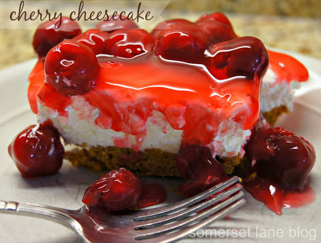 no bake cherry cheesecake recipe