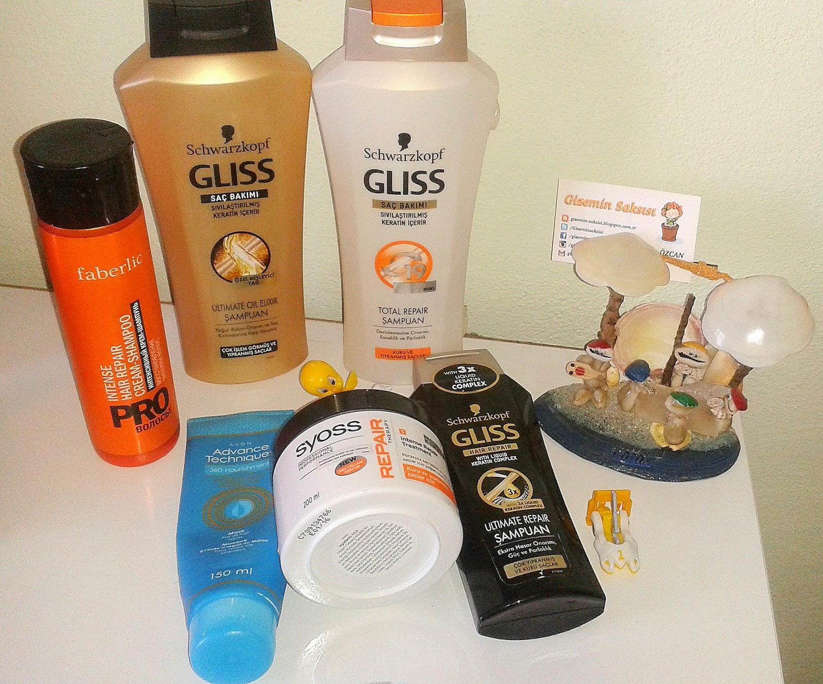 gliss yıpranmış saçlar için şampuan