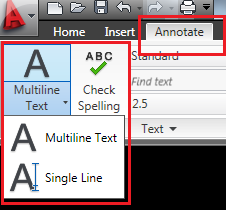 Belajar autocad - Multiline Text