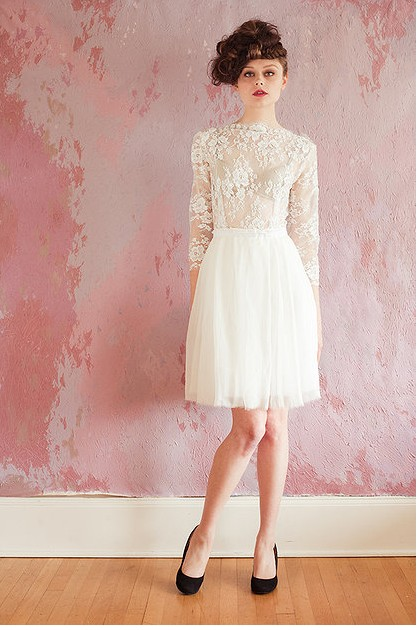 short lace Wedding Dresses 2013 From Sarah Seven