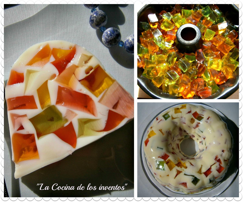 La cocina de los inventos tarta mosaico de gelatina for Mosaico para cocina