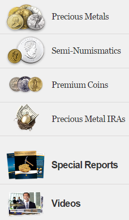 Shop for Gold, Silver and Platinum Bullion. Click here!