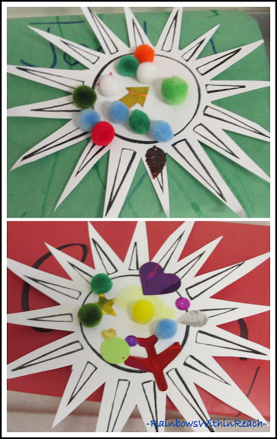 photo of: Sunshine Collage, Art Project for Children with Special Needs
