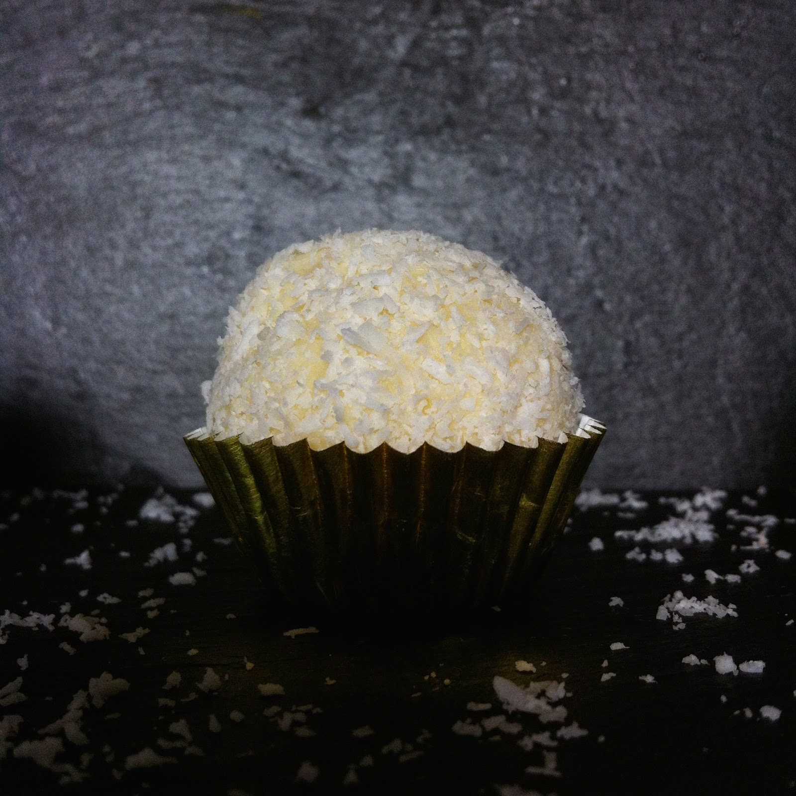 boule noix de coco chocolat blanc noisette lait concentré