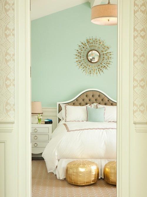 couleur chambre vert d eau une chambre menthe a l eau the foxtrotter - Peinture Pour Chambre Romantique Rose Pale Et Vert Deau