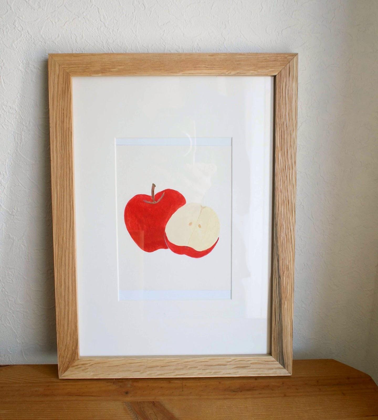 今回描いた食材のひとつ、りんご。