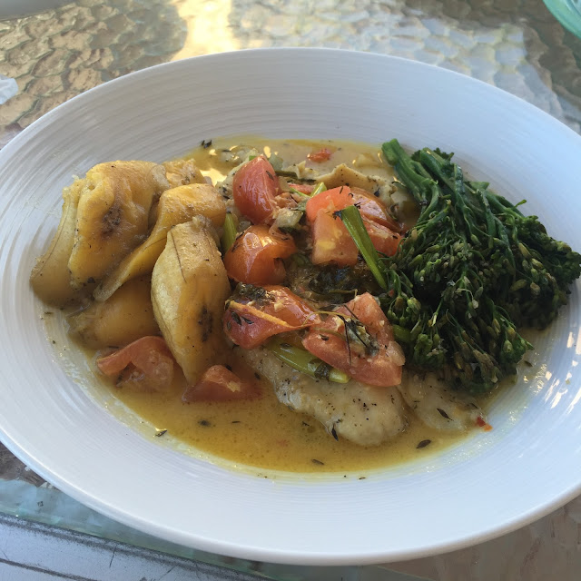 caribbean fish lunch
