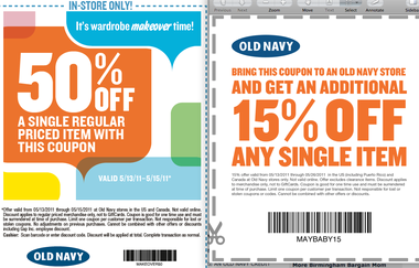 old navy printable coupons 50% OFF 2014