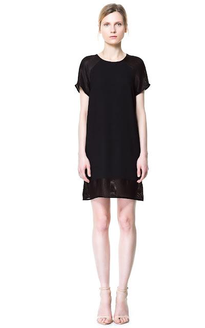 zara, mesh dress