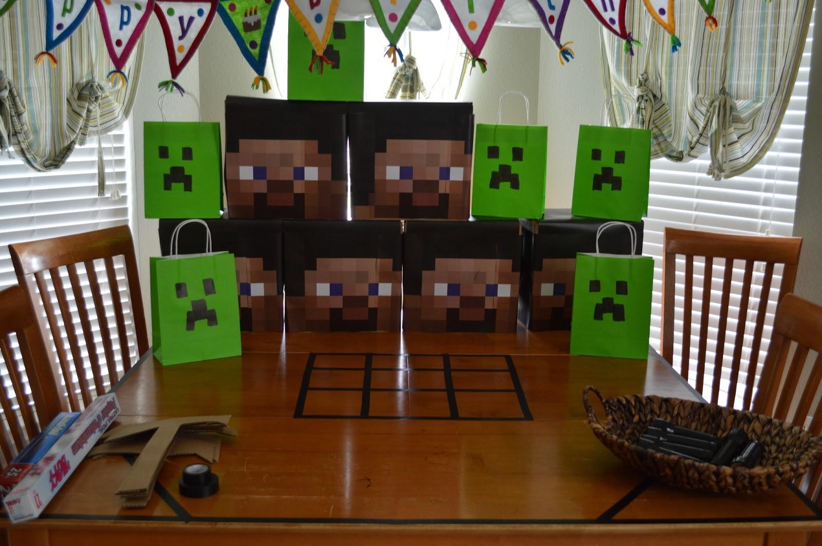 DadGeekGamer In That Order Minecraft Birthday Party v10
