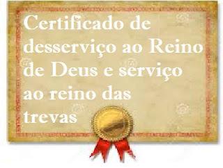 certificado, medalha, falso profeta