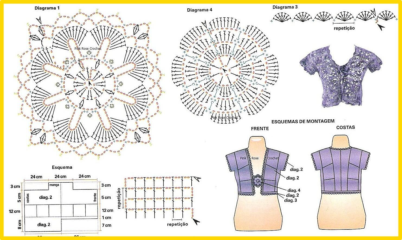 Vistoso Patrón De Tejer Bolero Foto - Ideas de Patrones de Costura ...